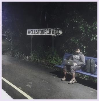 winter commute through Wollstonecraft